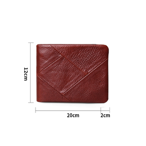 Image 3 - Cobbler Legend 100% Echtem Leder Männer Brieftaschen Vintage Trifold Brieftasche Zip Münzfach Geldbörse Rindsleder Brieftasche Für Herren