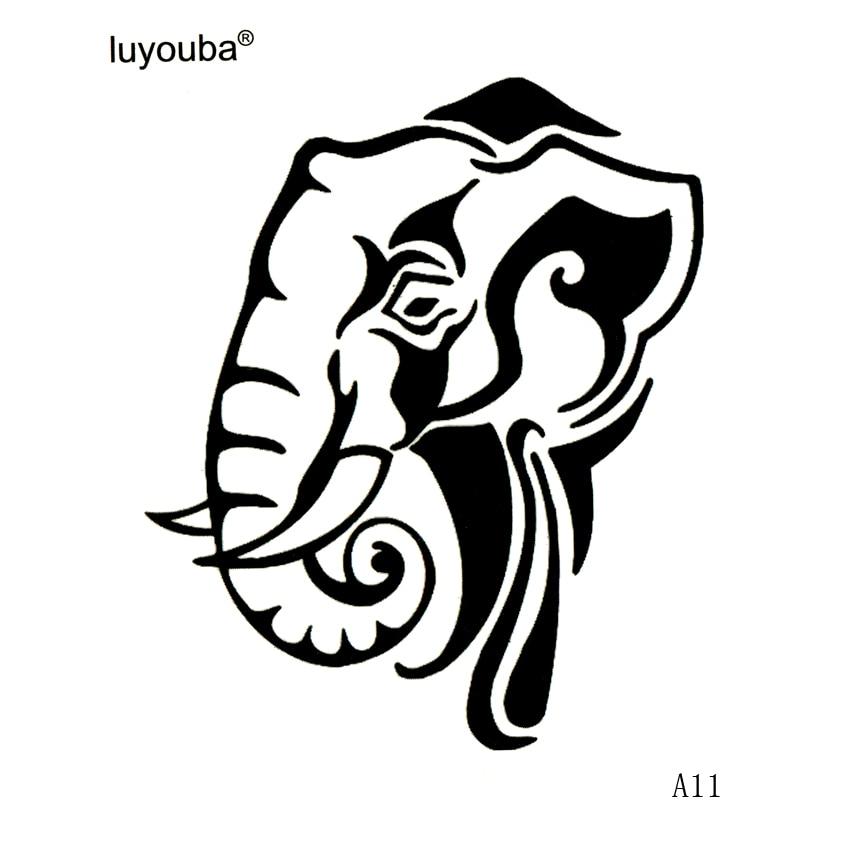 Elephant Waterproof Temporary Tattoos Sticker Body Art Animals Tattoo Sleeves  Tatoo Men Faux Tatouage  Tatuaje Temporal