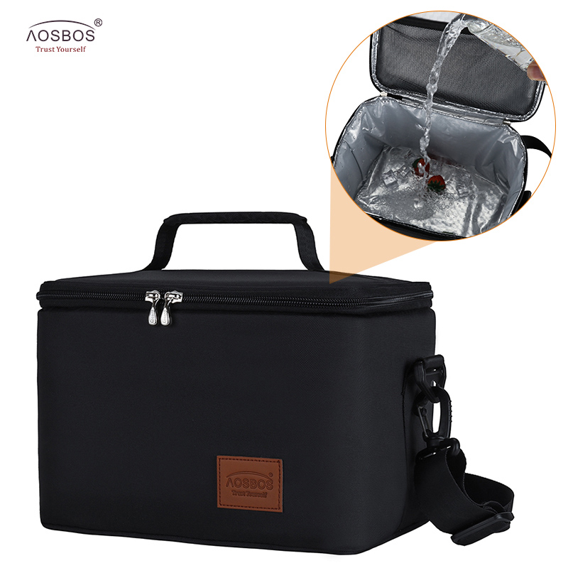 Aosbos Leakproof Picnic Cooler Lunch Bag For Men Large Portable Thermal Lunch Bags For Women Kids  Insulated Travel Food Bag 10L