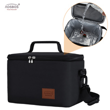 Aosbos Leakproof Picnic Cooler Lunch Bag for Men Large Portable Thermal Bags Women Kids  Insulated Travel Food 10L