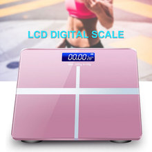 Weight Scale Body Fat Scale Electronic USB Charging Cross Pattern 180KG Bathrooms Floor LED Digital Display clique sc dylan 18 copy solid floor display
