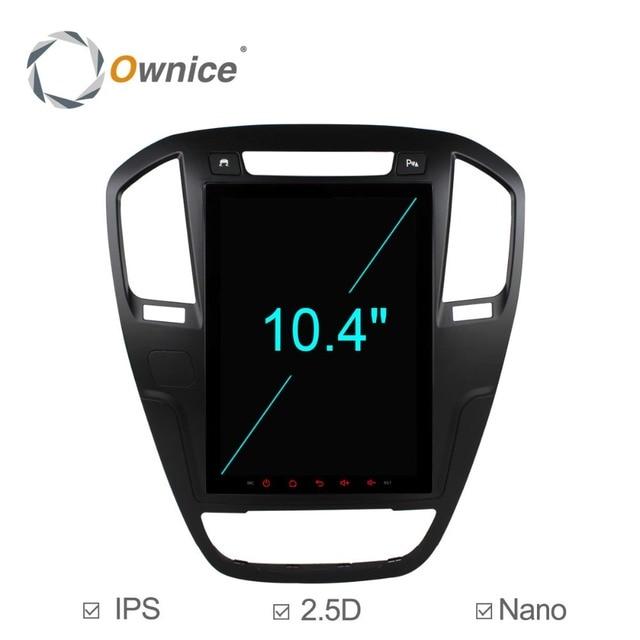 """C600 10.4 """"オクタコアの Android 6.0 車の DVD ビュイックリーガルのためオペル記章 2009 2010 2011 2012 2013 GPS ラジオステレオ 4 グラム SIM"""