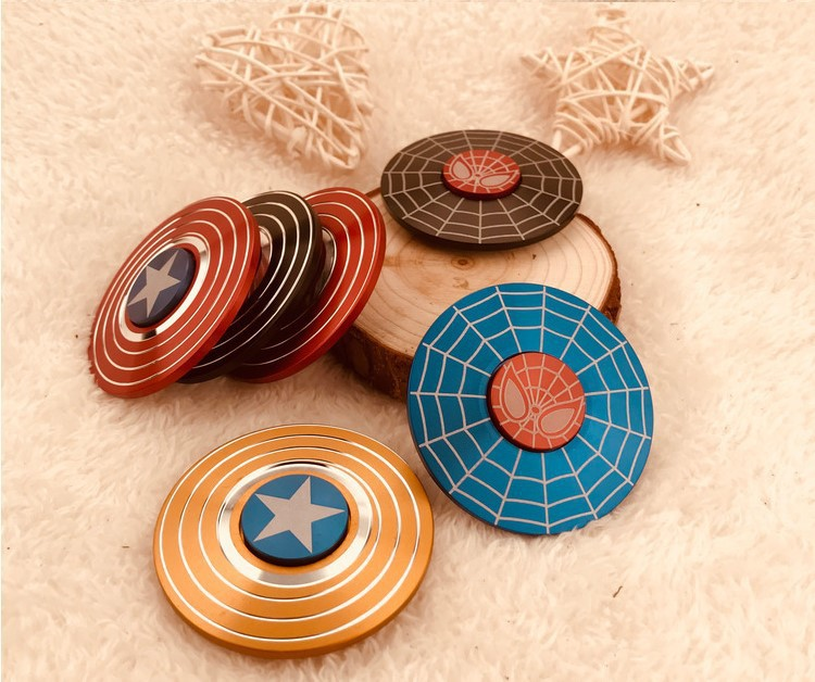 2019 Tik Yin Hot Selling Aluminum Alloy Captain America Fidget Gyro New Adult Stress Relief Toys Finger Toys Spinners