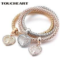 Toucheart 3 шт/компл браслет с деревом lif в форме сердца и