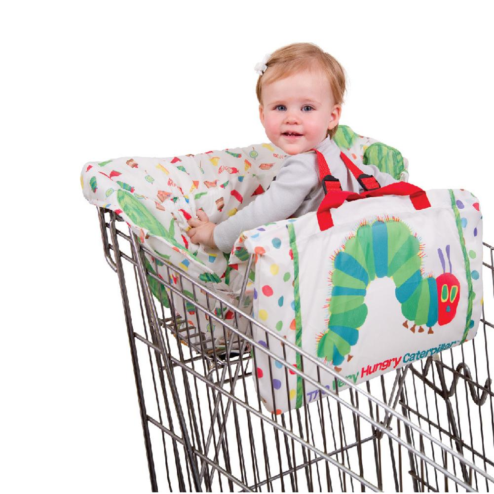 Kids Children'shopping Cart Trolley Cushion Cartoon Caterpillar Game Pad Dining Chair Cushion Case Safe Portable Pad  Multan