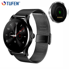 TUFEN K88H Desgaste Bluetooth Smartwatch Relógio Inteligente Para IOS Android homens mtk2502 Toque Colck Relógio Monitor De Freqüência Cardíaca Telefone VS kw88