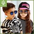 2017 Promoción Limitada Gradiente Niños Corea Del Sur Kk Tree Niños gafas de Sol Caja Redonda Gafas de Resina Niño Femenino Xia Jichao