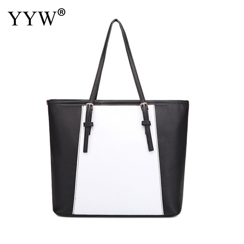 Casual Soft Pu Leather WomenS Handbags Light Zipper Women Shopping Bag Hit Color Large Shoulder Bags Female Tote Bags Bolsos