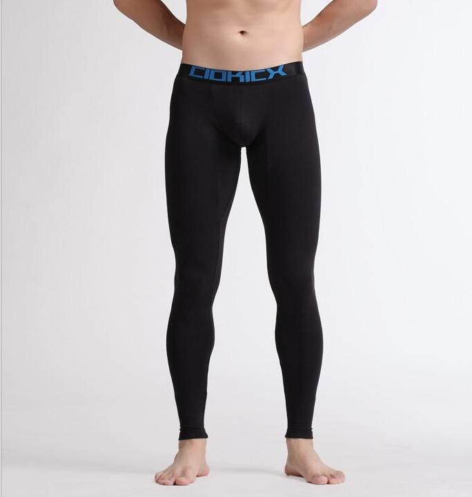Fashion Mens Cotton Thermal Underwear Pants Warm Long John Sexy Tights Leggings Winter Sleepwear U Convex Trousers Pajamas