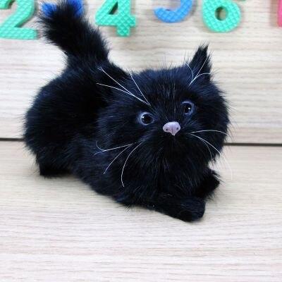simulation black cat about 12x5x10cm hard model toy polyethylene&furs lovely cat ,decoration toy gift s1783 стоимость