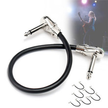 Zebra 6Pcs Audio Cable Electric Bass Guitar Effect Pedal Board Patch Cable Cord With Right Angle
