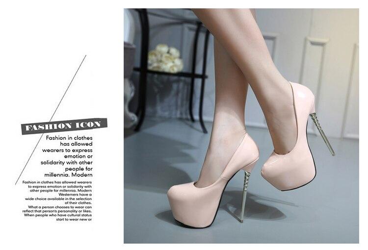 Púrpura zapatos de tacones altos bombas mujeres plataforma desnudo ... 9f950a0809bf