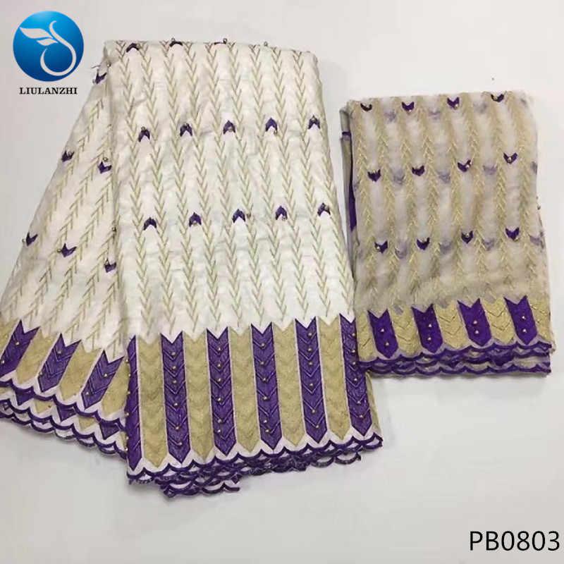 LIULANZHI африканская кружевная ткань Bazin riche с бисером вышивка Базен broderie ткань высокого качества кружевная ткань для платья PB08