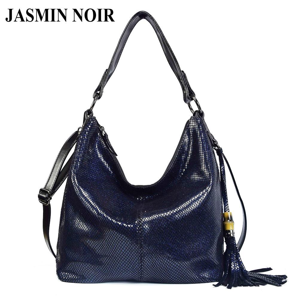 Brand Women Handbag Genuine Leather Shoulder Bags Female Classic Serpentine Prints Tote Bag Ladies Tassel Luxury Messenger Bag