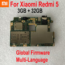 Original Unlocked 3GB 32GB Global FirmWare Working Mainboard For Xiaomi Redmi 5 Hongmi 5 Motherboard Circuit Fee Flex Cable