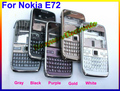 Super High Quality NEW Mobile Shell Full Housing Cover Case+Keypads for Nokia E72  5COLOR