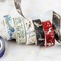 Васи ленты Скрапбукинг дневник канцелярские кран золото Фольга декоративные клейкой ленты для Фотоальбом украшения 5 м * 15 мм - фото