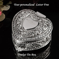 Personalised Heart Trinket Tin Box Engraved Free ,jewelry box