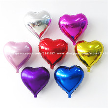 10pcs/lot 10 inch Helium Balloon heart Wedding star aluminum Foil Balloons Inflatable gift Birthday baloon Party Decoration Ball(China)