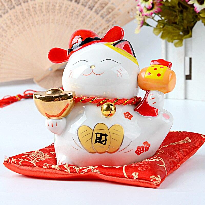 Kirghizistan bon Mini trompette chat ornements ameublement salon décoration 0236 beau bureau bureau