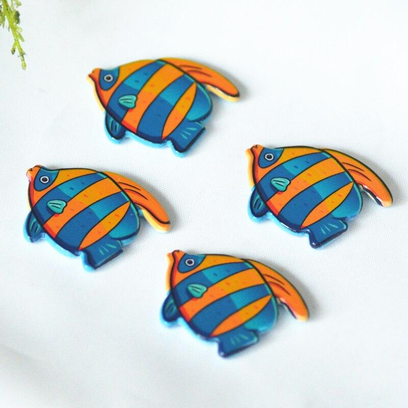 RESIN DECORATIVE TROPICAL FISH BLUE