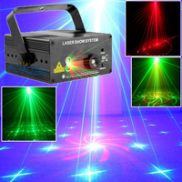 18 Patterns Blue LED Laser Light And Music Lumiere Red Green Mini Laser Projector Stage Disco
