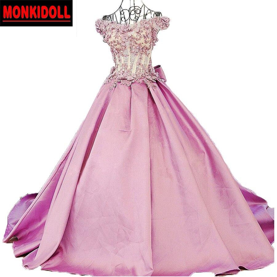 Haute qualité perles appliques fleurs rose robes de soirée longue de luxe robe de bal 2019 Illusion Sexy perlée robes de reconstitution historique réel