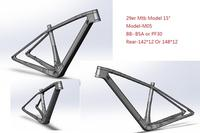 2019 M05 Newest carbon mtb Frame 29er 27.5er 15 17 19 BSA BB30 Tapered Mountain Bike Frame 2 Year