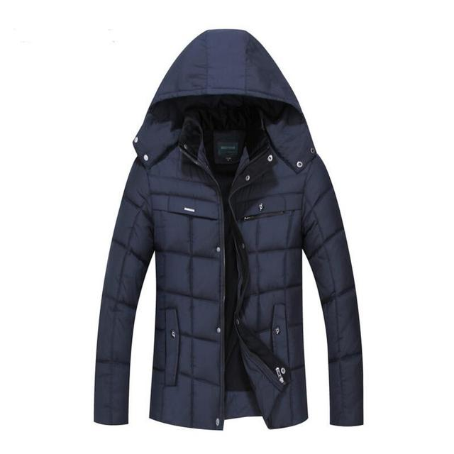 Winter Jacket For Men Middle-aged And Old Men's Fashion Man Warm Winter Jacket Plus Size Mens Jackets And Coats Winter
