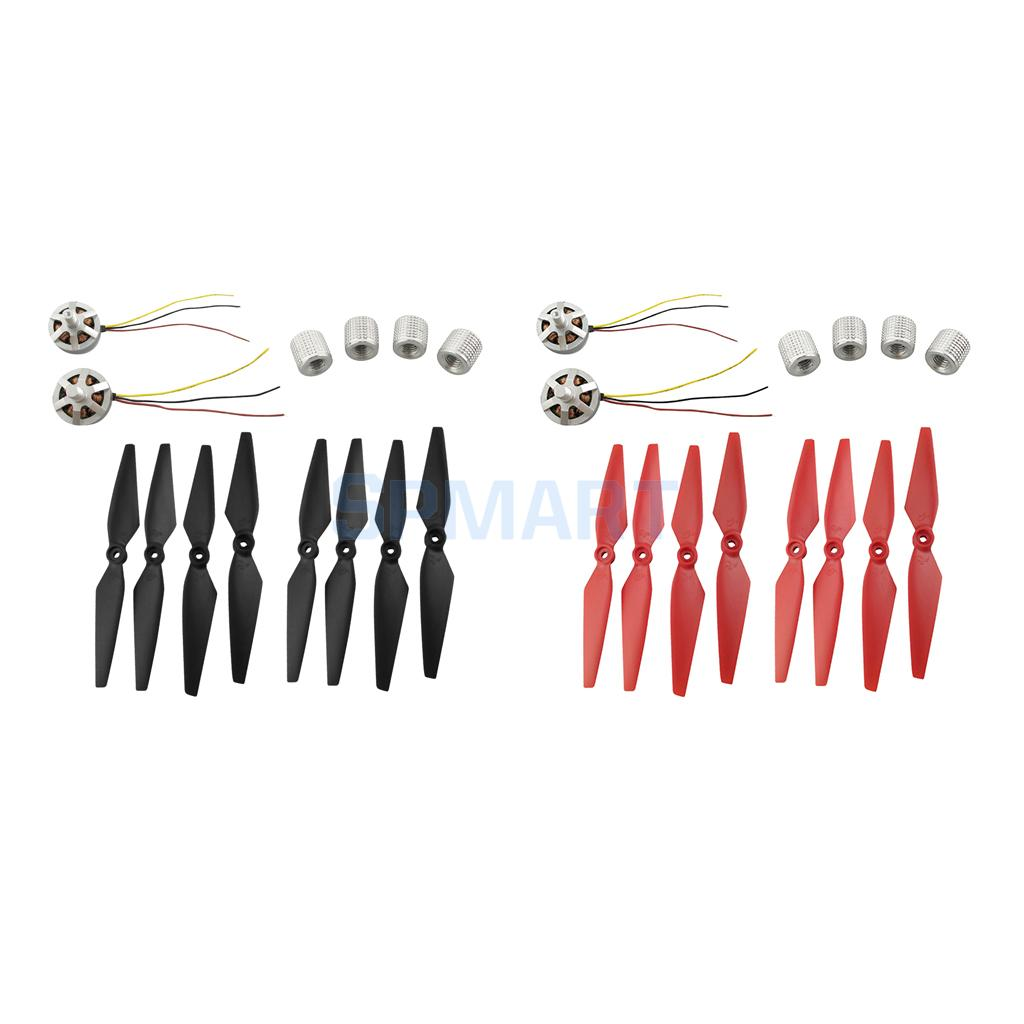 8Pcs Propeller Props + Motor + Blade Cap for MJX B2W B2C Bugs 2w Bugs 2 RC Brushless Drone Quadcopter Helicopter Spare Parts modern cx 10 rc quadcopter spare parts blade propeller jan11