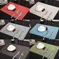 6 unids PVC Manteles Aislamiento de secado rápido Esteras Coasters Cocina/Comedor inicio decro Platos mantel posavasos