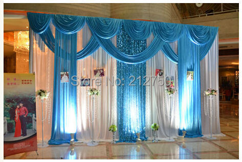 express free shipping wedding decoration backdrops 3m 6m