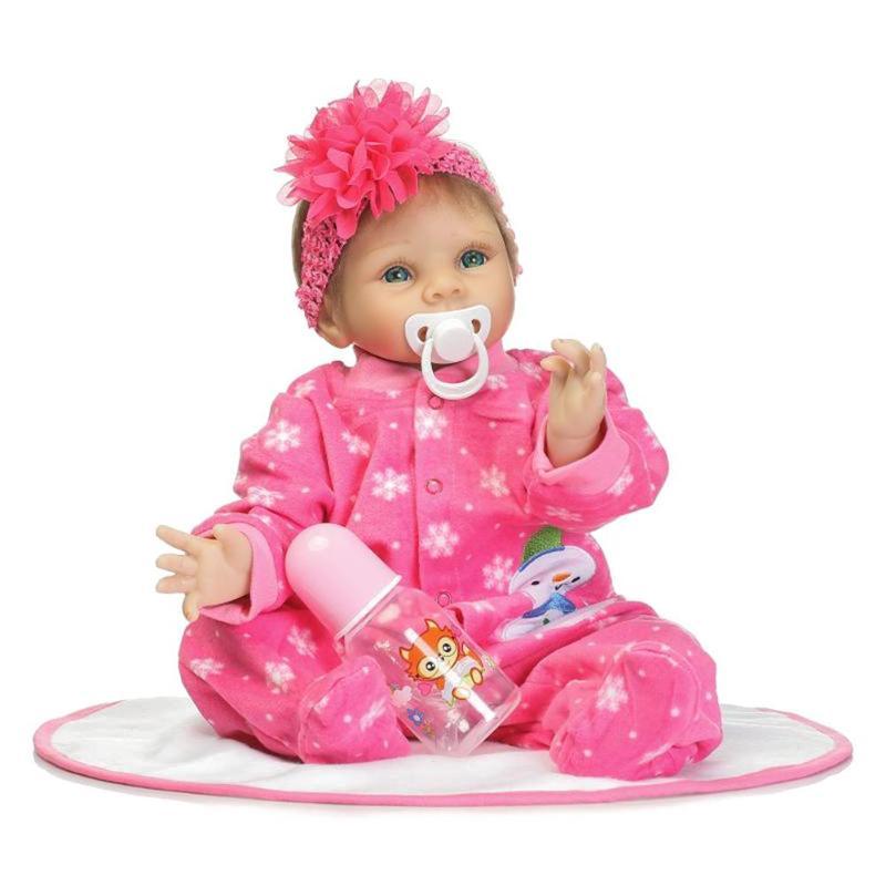 NPK simuler grande fleur fille Reborn bébé poupée enfants Playmate Silicone jouets