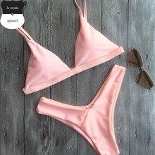 Sexy Pink high cut leg bikini set 2017 new two pieces swimsuit female swimwear swim suit for women bathing suit biquini