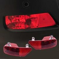 CITALL 1 Pair Left Right Rear Tail Bumper Fog Light Lamp Cover Case Shell For Peugeot 3008 2009 2010 2011 2012 2013 2014 2015