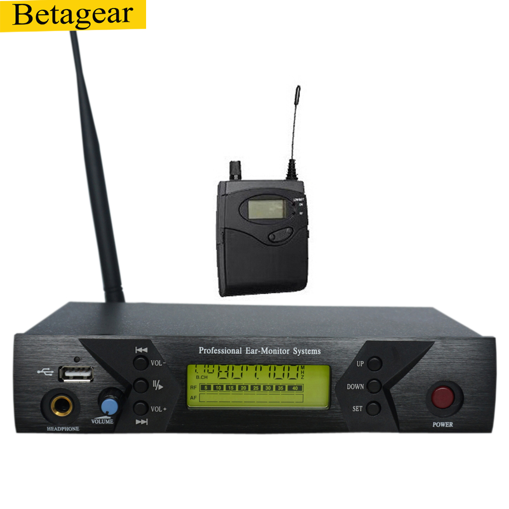 Betagear BK510 MONO <font><b>in</b></font> ohr <font><b>monitor</b></font> system <font><b>professional</b></font> bühne audio wireless mic recevier uhf IEM 798-830MHz wireless system image