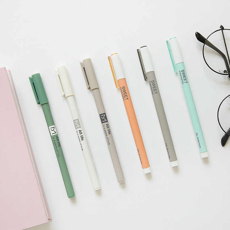 3 pcs/lot 0.5 mm All Life Sweet Memories Gel Pen Signature Pen Escolar Papelaria School Office Supply Promotional Gift