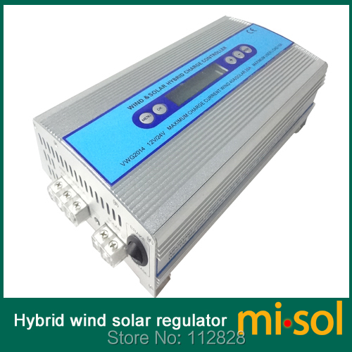 Hybrid Wind solar charge controller, Solar Charge Controller, wind regulator, 12V 24V wind charge controller free shipping 600w wind grid tie inverter with lcd data for 12v 24v ac wind turbine 90 260vac no need controller and battery