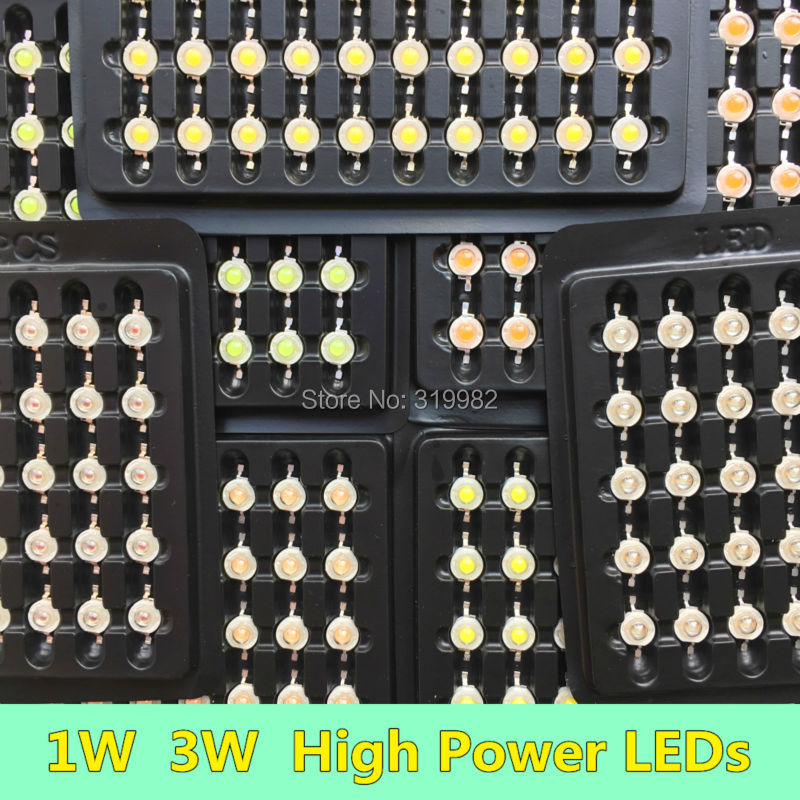 10 PCS/lot 1W 3W LED Diode Chip High Power LEDs Lamp Source white warm red blue green yellow orange Copper Holder 32mil 45mil