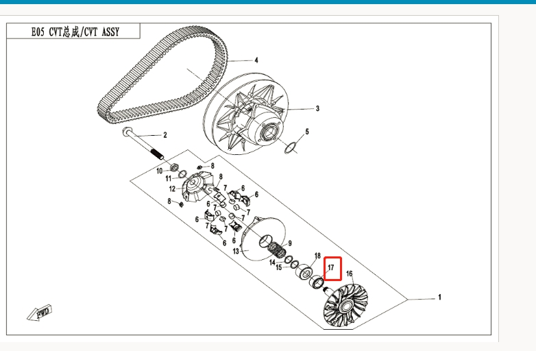 one way bearing fit for CF550/191R X550 /CF500 parts code is 0GR0 051300-in Engines from