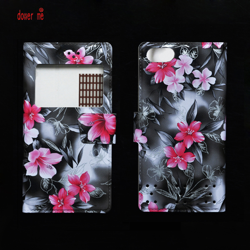 dower me Colorful Flower Flip PU Leather Case Cover For Digma LINX X1  X1 Pro 3G Smart Phone