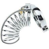 רב מכשיר צניעות הנירוסטה טבעת זין עם 5 גודל דיק קייג 'פין טבעת חגורת צניעות מין גברי נעילת בתולים צעצועי