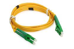 5pcs Duplex 2LC/APC-2LC/APC-2.0mm-PVC-G652D-Yellow-1.5m Optical Fiber Patchcord/Jumper