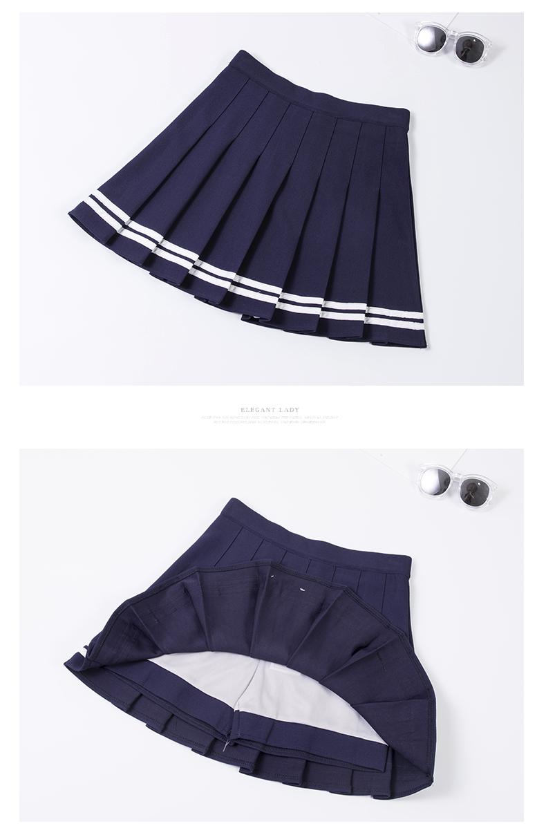 Falda de animadora estilo sailor en diferentes colores 11