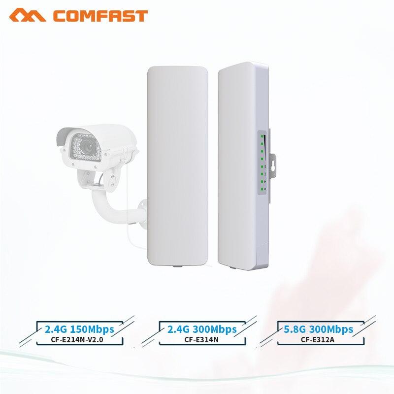 Chaud comfast 2-3KM 2.4Ghz et 5.8Ghz 150 ~ 300Mbps extérieur sans fil pont CPE routeur wi fi signal amplificateur booster répéteur