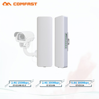 Hot comfast 2 3KM 2.4Ghz&5.8Ghz 150~300Mbps Outdoor wireless bridge CPE router wi fi signal amplifier booster extender repeater