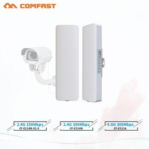 Image 1 - ホット comfast cf 2 3 キロ 2.4 & 5.8 150 〜 300 150mbps の屋外ワイヤレスブリッジ cpe ルータ wi fi 信号アンプブースターエクステンダーリピータ