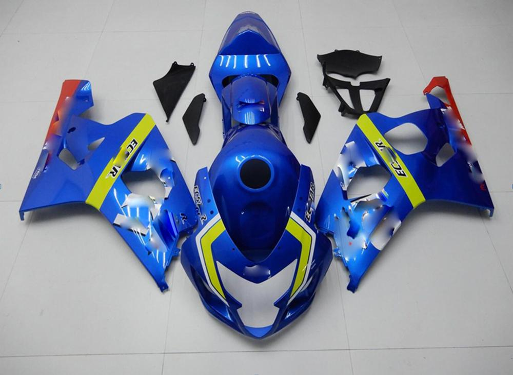 For <font><b>Suzuki</b></font> <font><b>GSXR</b></font> <font><b>600</b></font> / 750 04-05 Full <font><b>Fairing</b></font> <font><b>Kit</b></font> Bodywork Molding Injection Gas Tank Rear Fender GSXR750 GSXR600 K4 K5 2004 2005 image
