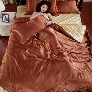 Image 3 - LOVINSUNSHINE Luxury Duvet Cover Comforter Bedding Sets Double Luxury Silk Bedding Set AX05#