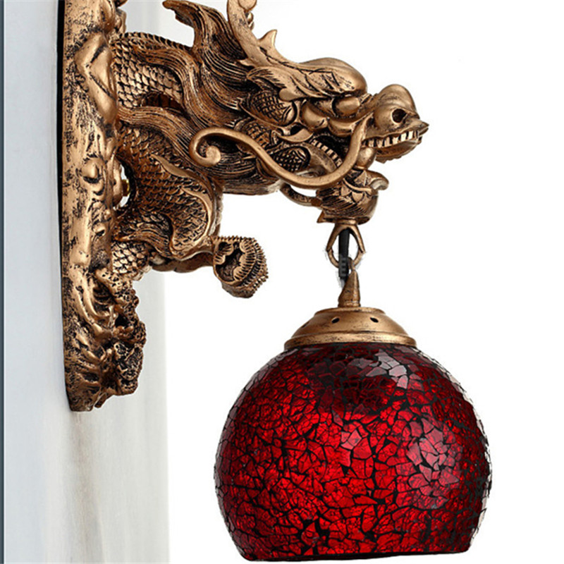 Wonderland Wandlampen China Dragon Krachtige Art Wandlamp Woonkamer Luxe Woondecoratie Verlichting Muur Led Lamp Trappen Pijp - 3
